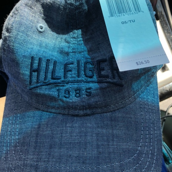 tommy hilfiger accessories blue jean material hat poshmark